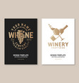 wine company poster flyer template card vector image