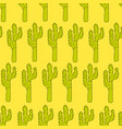 seamless pattern with cactuses - design vector image
