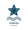 Design of logo with starfish Starfish symbol vector image