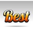 Best Title for Labels on Light Background vector image