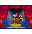 A turtle at the center of the stage vector image vector image