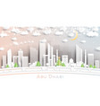 abu dhabi united arab emirates city skyline in vector image