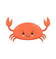 an of a cute smiling red crab in format vector image vector image