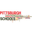are pittsburgh schools in trouble text background vector image vector image