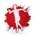 athlete runner a man runner running vector image