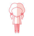 avatar stylish cartoon girl vector image