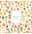 background with fresh fruits background with vector image vector image