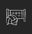 beach volleyball chalk white icon on dark vector image