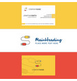 beautiful usb cable logo and business card vector image