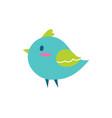 bird blue color small vector image vector image