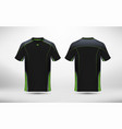 black and green layout e-sport t-shirt design vector image vector image