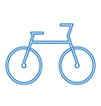 blue bicycle symbol vector image vector image