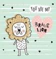 brave lion vector image vector image
