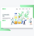 cannabis oil website landing page design vector image