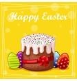 card Easter cake and eggs vector image vector image