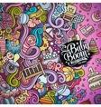 Cartoon doodles baby boom frame vector image vector image