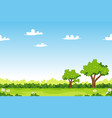 cartoon summer landscape with trees vector image vector image