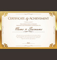 certificate or diploma retro template 1 vector image vector image