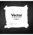 Chalked banner of blackboard vector image vector image