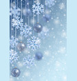 christmas and new year winter template vector image