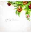 Christmas Tree Ornaments Design vector image
