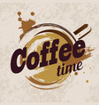 coffee cup stylized emblem template vector image vector image