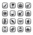 Cooking Equipment Icons vector image vector image