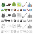 country canada cartoon icons in set collection for vector image