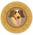dog medallion vector image vector image