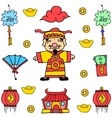 Doodle of New Year Chinese celebration vector image vector image