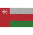 Flags Oman on denim texture vector image