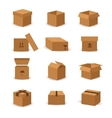 Flat box and packing icon vector image