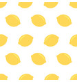 fresh lemons background hand drawn icons doodle vector image
