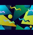 geometric gradient shape seamless pattern vector image vector image