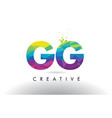 gg g g colorful letter origami triangles design vector image vector image