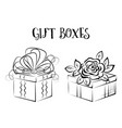 gift box contours vector image