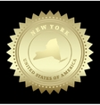 Gold star label New York vector image