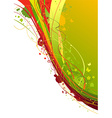 Grunge abstract background in red and green colors vector image