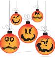 halloween ghost balls vector image vector image