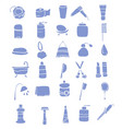 hand drawn hygiene icons vector image