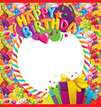 happy birthday color frame vector image vector image