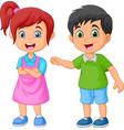 happy kid cartoon vector image vector image