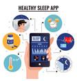 healthy sleep app design concept vector image vector image