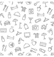 Hotel services pattern black icons