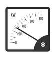 indicator black line art icon equipment vector image