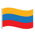 isolated colombian flag vector image vector image