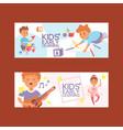 kids cartoon girl boy characters children dancing vector image