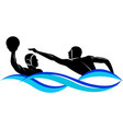 logo water polo vector image