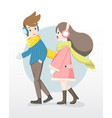 man and woman enjoy talking to each other vector image vector image