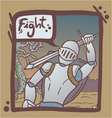 medieval warrior scene vector image vector image
